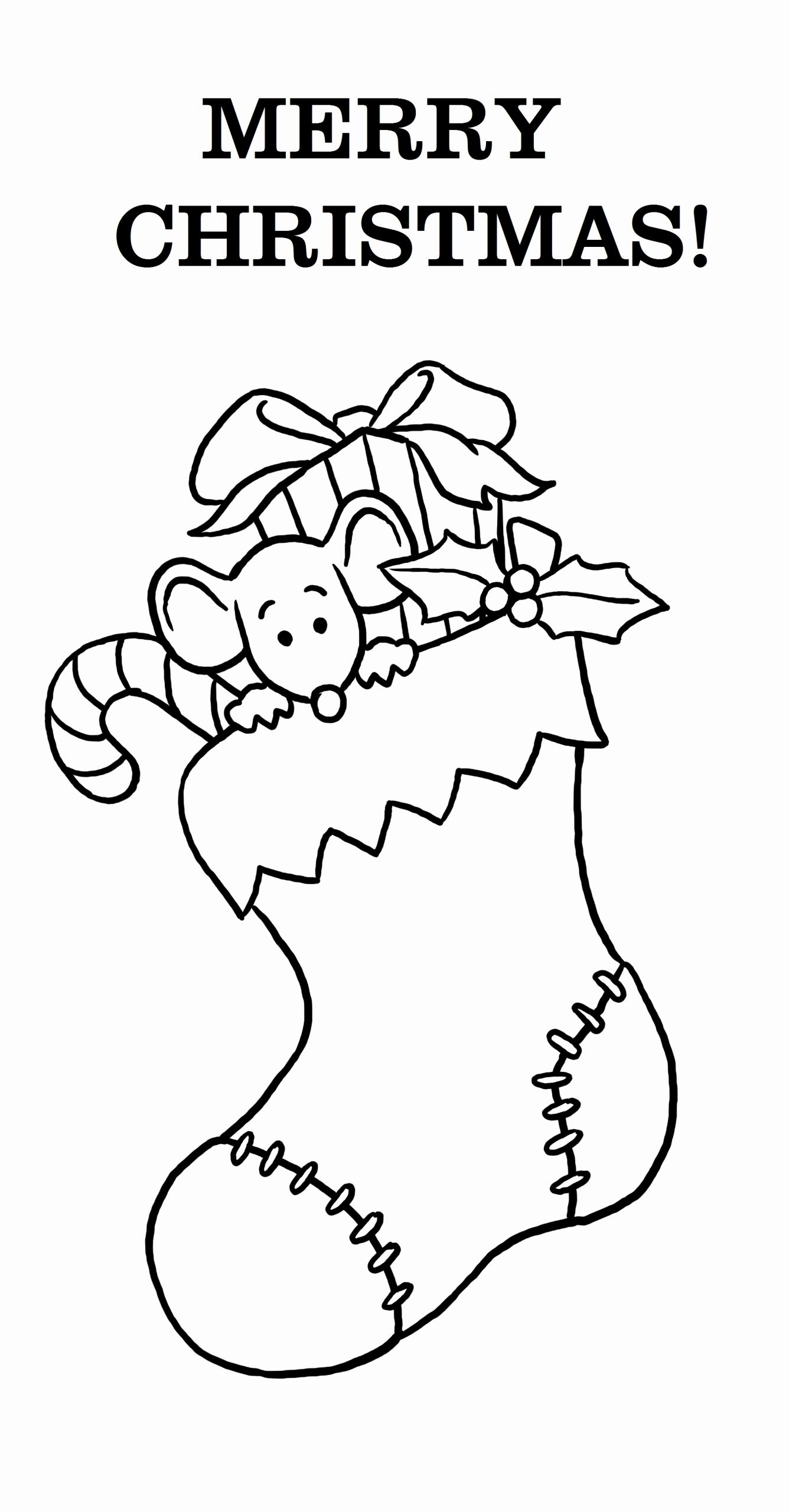 Free Printable Christmas Coloring Pages or Free Printable Merry Christmas Coloring Pages