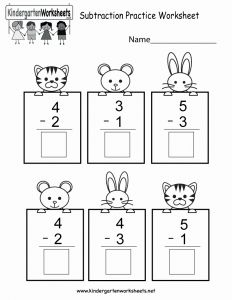 Free Printable Math Worksheets Subtraction or Free Printable Subtracting Math Practice Worksheet for