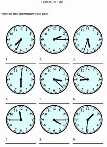 Learn Clocks Worksheet Printable then Learning Clock Worksheets – Mreichert Kids Worksheets