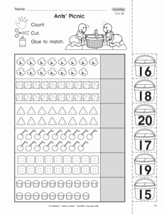 Printable Worksheet Counting to 20 Objects and Results for Counting to 20 Worksheets