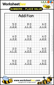 Addition Worksheets with Pictures Printable and Addition Printable Worksheet for Kids Basic Maths Worksheet Bee