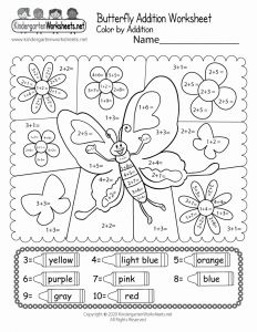 Addition Worksheets with Pictures Printable then butterfly Color by Addition Worksheet Free Printable Digital & Pdf