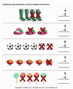 Fun Subtraction Worksheet Printable or Picture Subtraction Worksheet Turtle Diary