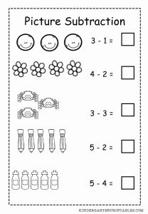 Fun Subtraction Worksheet Printable then Basic Picture Subtraction Worksheet Free Printable