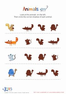 Printable Work Sheets for Kids then Learning Animals for Kids Printable Pdf Worksheet