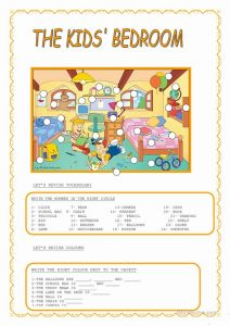 Printable Work Sheets for Kids then the Kids´bedroom Worksheet Free Esl Printable Worksheets Made by Teachers