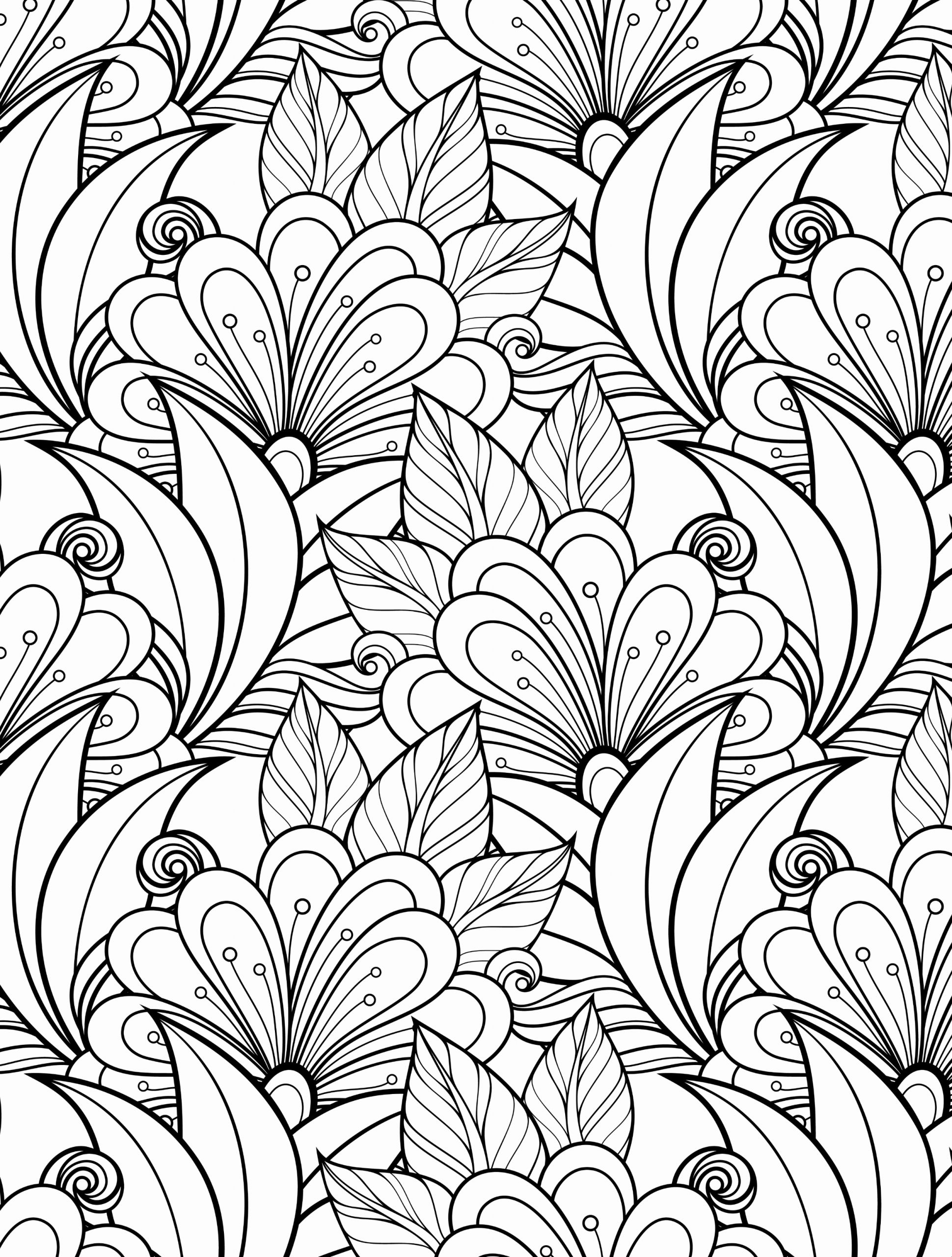 A Coloring Sheets Printable or Floral Coloring Pages for Adults Best Coloring Pages for Kids