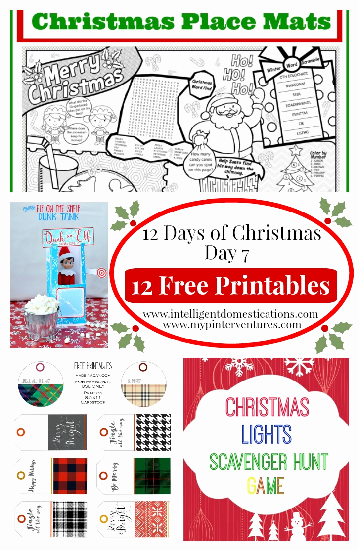 Free Printable Holiday Worksheets 2 and 12 Days Of Christmas Free Christmas Printable