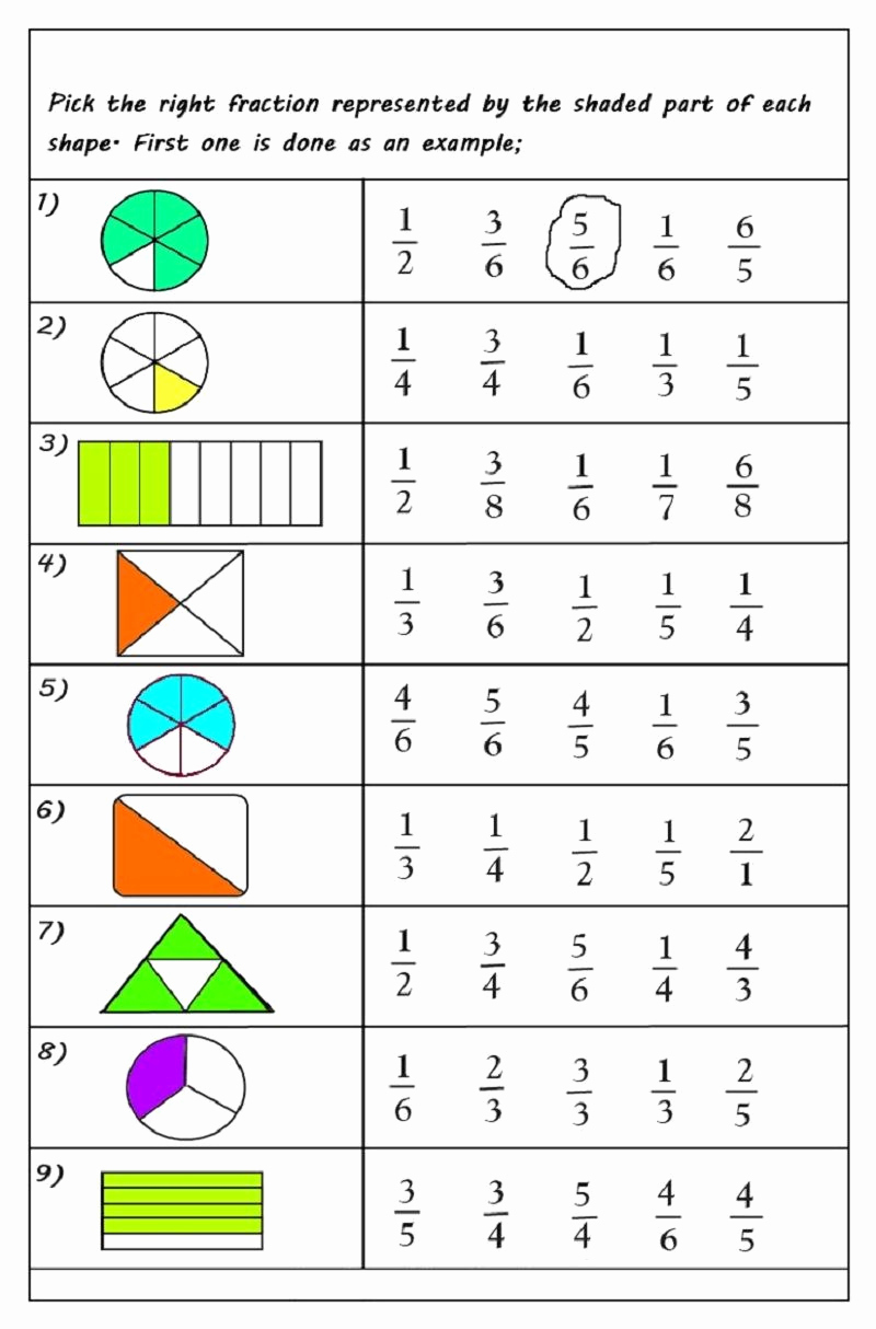 Free Printable Math Worksheets then Free Printable Math Fraction Worksheets for 3rd Grade