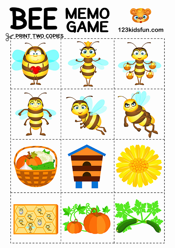 Free Printable Puzzles for Kids 2 and Bee Game Free Printables