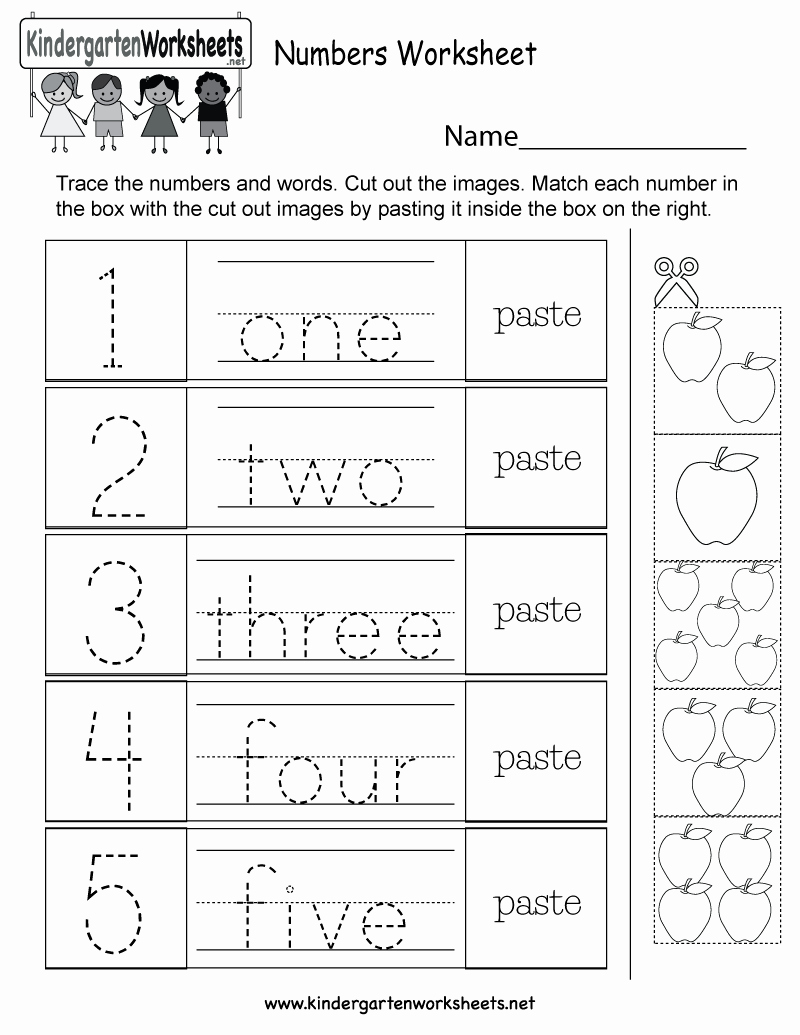 Free Printable Worksheets for Kids Number then Free Printable Numbers Worksheet for Kindergarten