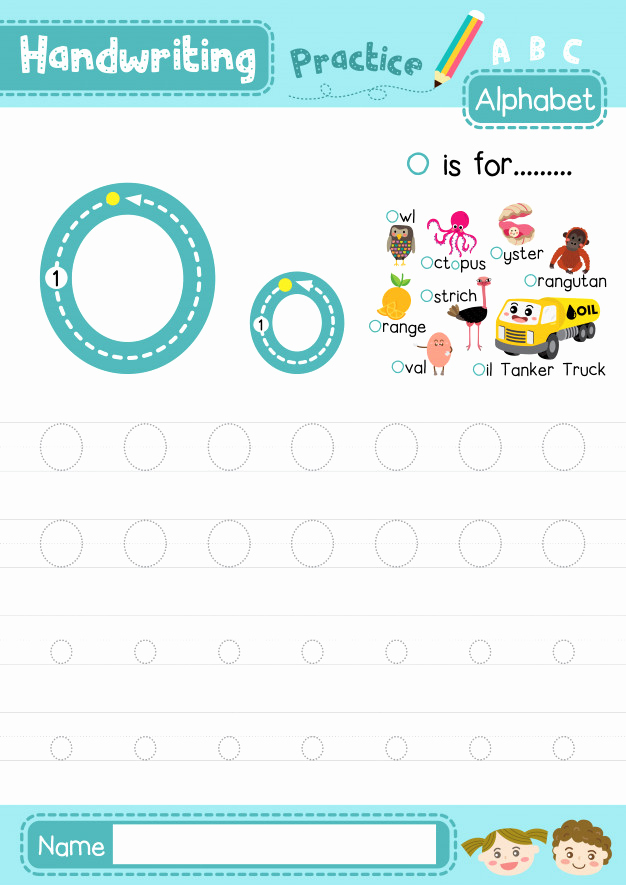 Letter O Writing Practice Worksheet Printable Of Letter O Uppercase and Lowercase Tracing Practice Worksheet