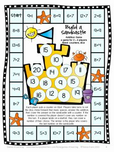 Math Games for Grade 2 Printable or Free Printable Beach themed Maths Activity – Lesson Plans