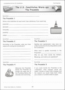 Middle School Worksheets Free Printable and 11 Best Of Constitution Activity Worksheets Constitution Day Printable Worksheets