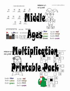Middle School Worksheets Free Printable Of Freebie Friday Middle Ages Multiplication Printable Pack