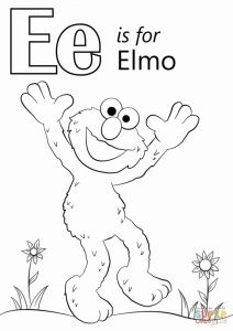 Printable Elmo Coloring Pages for Kids or Get This Elmo Coloring Pages Printable for toddlers