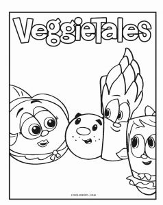 Printable Learning Pages for toddlers Coloring Downloadable or Free Printable Veggie Tales Coloring Pages for Kids