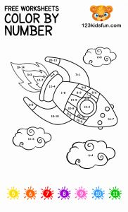 Printable Learning Pages for toddlers Coloring Downloadable then Free Color by Number Printable Coloring Pages for Kids