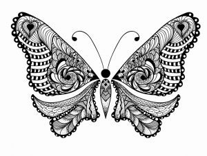 Printable Learning Pages for toddlers Coloring Downloadable then Get This Adult Coloring Pages Animals butterfly 1