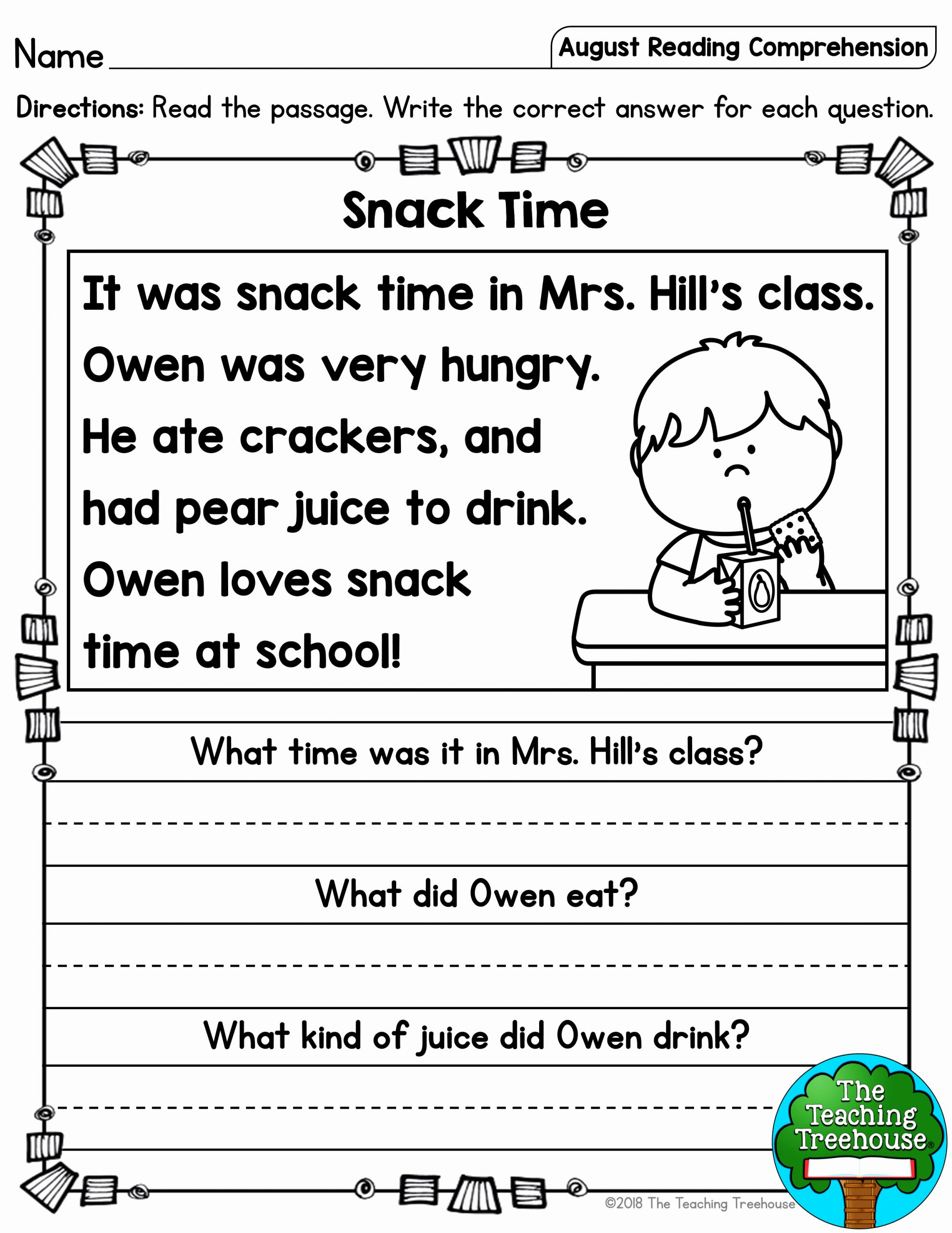 Printable Reading Worksheets and This Free Reading Prehension Activity is Ideal for Grades 3 5 Free Printable Read Naturally