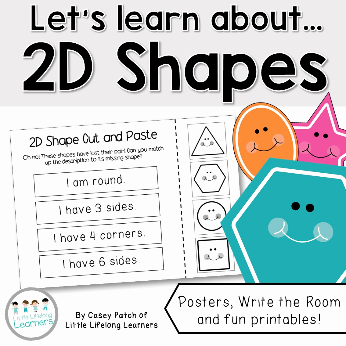Printable Shapes 2 Of Let S Learn About 2d Shapes Packet Of Resources Little Lifelong Learners