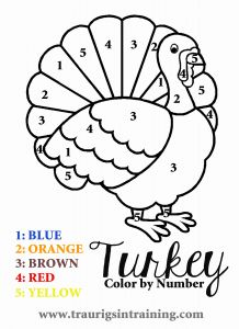 Printable Thanksgiving Coloring Pages Of 6 Best Of Free Printable Color by Number Turkey Thanksgiving Color by Number Coloring