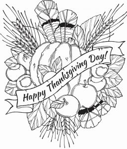 Printable Thanksgiving Coloring Pages Of Printable Happy Thanksgiving Coloring Pages Free Download for Kids