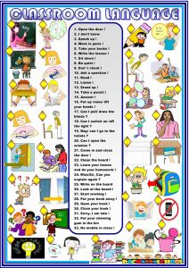 Printable Vocabulary Worksheet and Classroom Language Worksheet Free Esl Printable Worksheets Made by Teachers