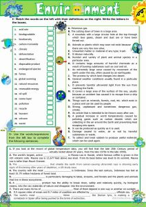 Printable Vocabulary Worksheet Of the Environment Vocabulary Practice Worksheet Free Esl Printable Worksheets Made by Teachers
