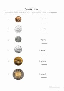 Printable Worksheets Identifying Coins then 30 Identifying Coins and Coin Values Worksheets