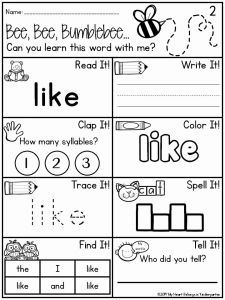 They Sight Word Worksheet Printable Of 12 Best Of Like You Do Worksheets Food Worksheets What Do You Like Doing Worksheets