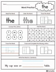 They Sight Word Worksheet Printable Of High Frequency Words Printable Worksheets
