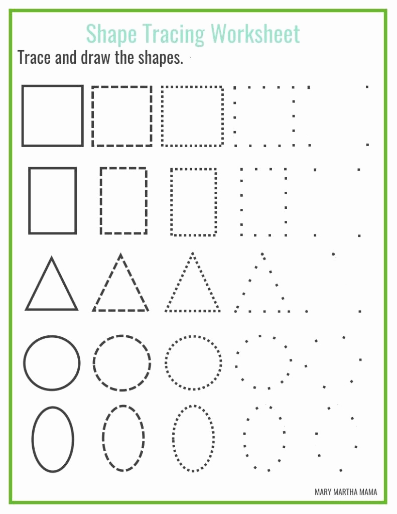 Geometric Shapes Kindergarten Worksheets On Drawing and Free Shape Drawing Printables