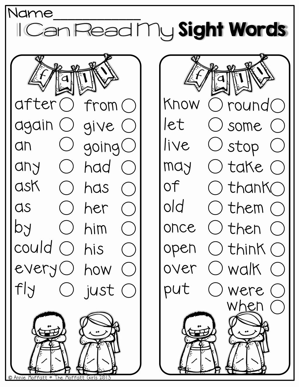 I Worksheets for Kindergarten Sight Words or I Can Read My Sight Words Perfect for Keeping Track Of How Many Sight Words You Have Learned