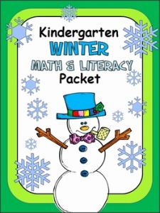 Kindergarten Math Packet Pdf Of Winter Math and Literacy Packet for Kindergarten by Abc Helping Hands