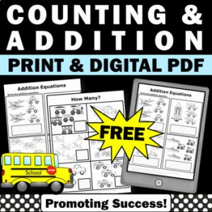 Kindergarten Math Packet Pdf then Free Counting Worksheet Kindergarten Math Distance Learning Packet at Home