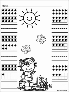 Kindergarten Spring Math Worksheet and Spring Math Worksheets by Ready Set Learn