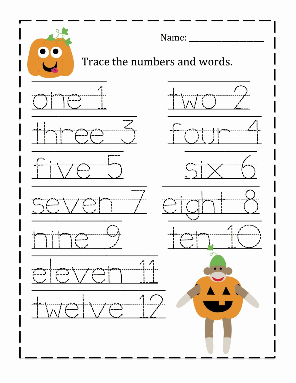 Kindergarten Worksheets Tracing Numbers 1 Cats then Free Traceable Number 1 100