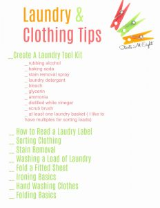 Life Skills Worksheets for High School and Life Skills as High School Electives Laundry and Clothing Tips