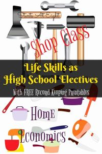 Life Skills Worksheets for High School or Life Skills as High School Electives Home Economics & Shop Class From Starts at Eight Teachi