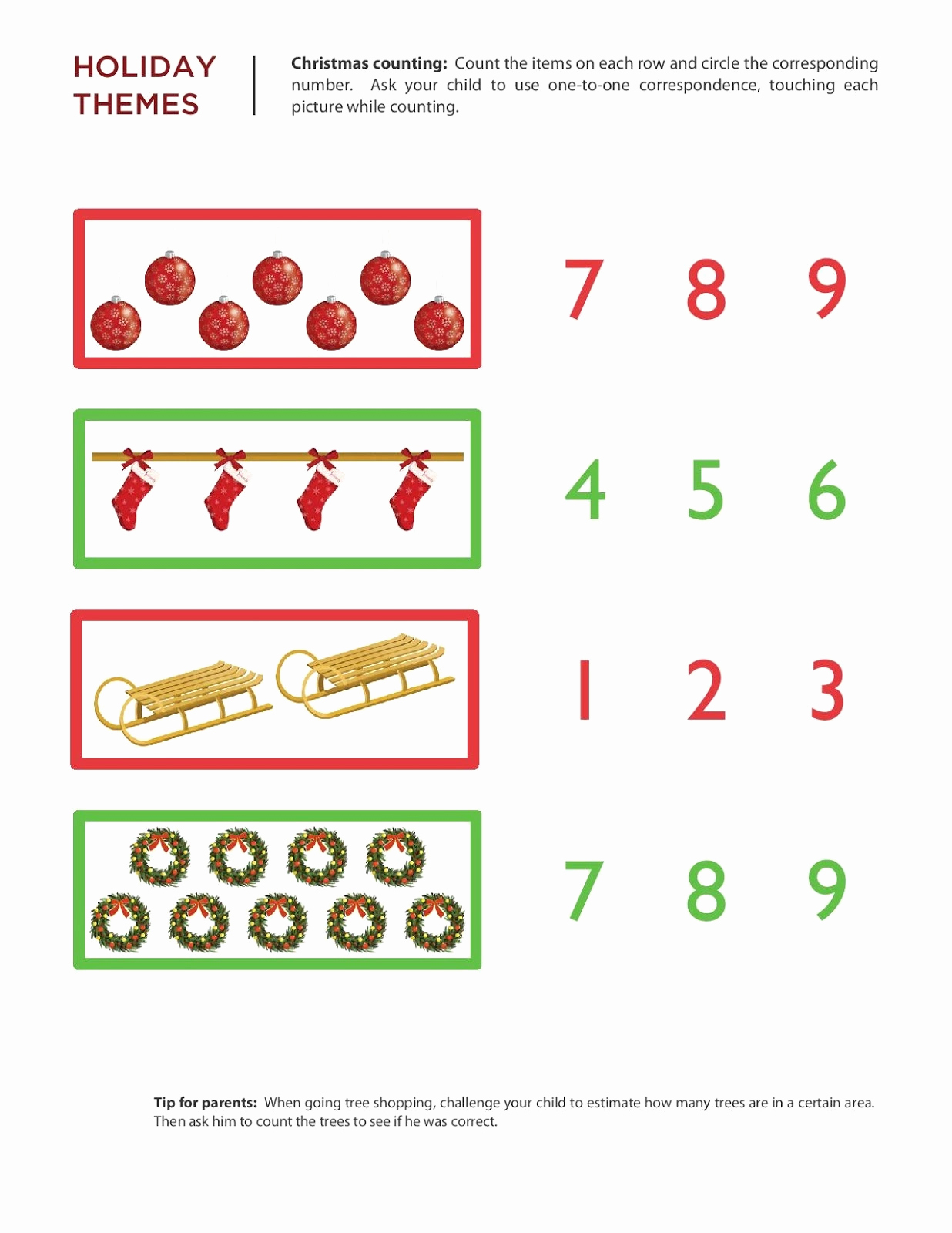 Math for Kindergarten Holiday Worksheets and Kindergarten Worksheets Maths Worksheets Chritmas Worksheets