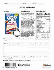 Nutrition Worksheets for Middle School or 5 Best Of Middle School Printables Food Nutrition Labels Worksheet Champs Classroom