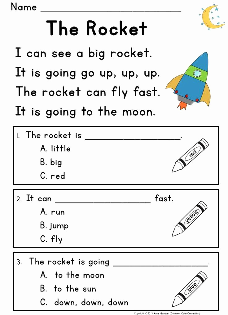 Reading Worksheets for Kindergarten 2 or Kindergarten Reading Prehension Passages & Questions Guided Reading Level C